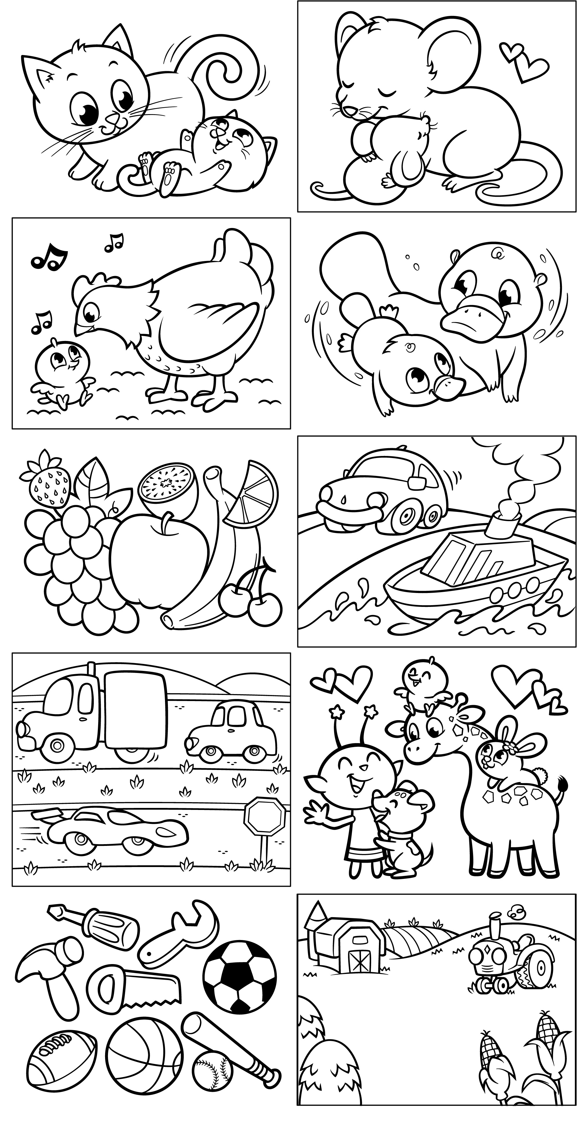 Coloring Pages Opposites For Preschoolers Printable