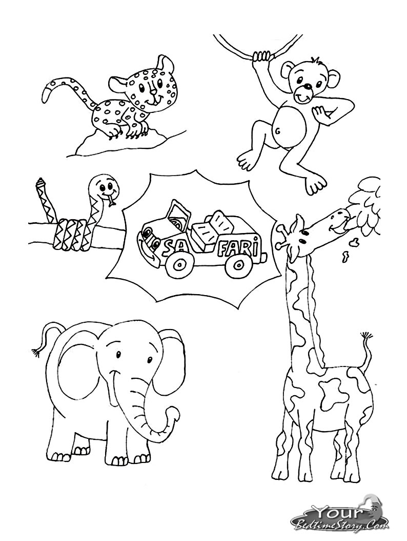 Safari coloring pages to download and print for free   free printable coloring pages safari animals