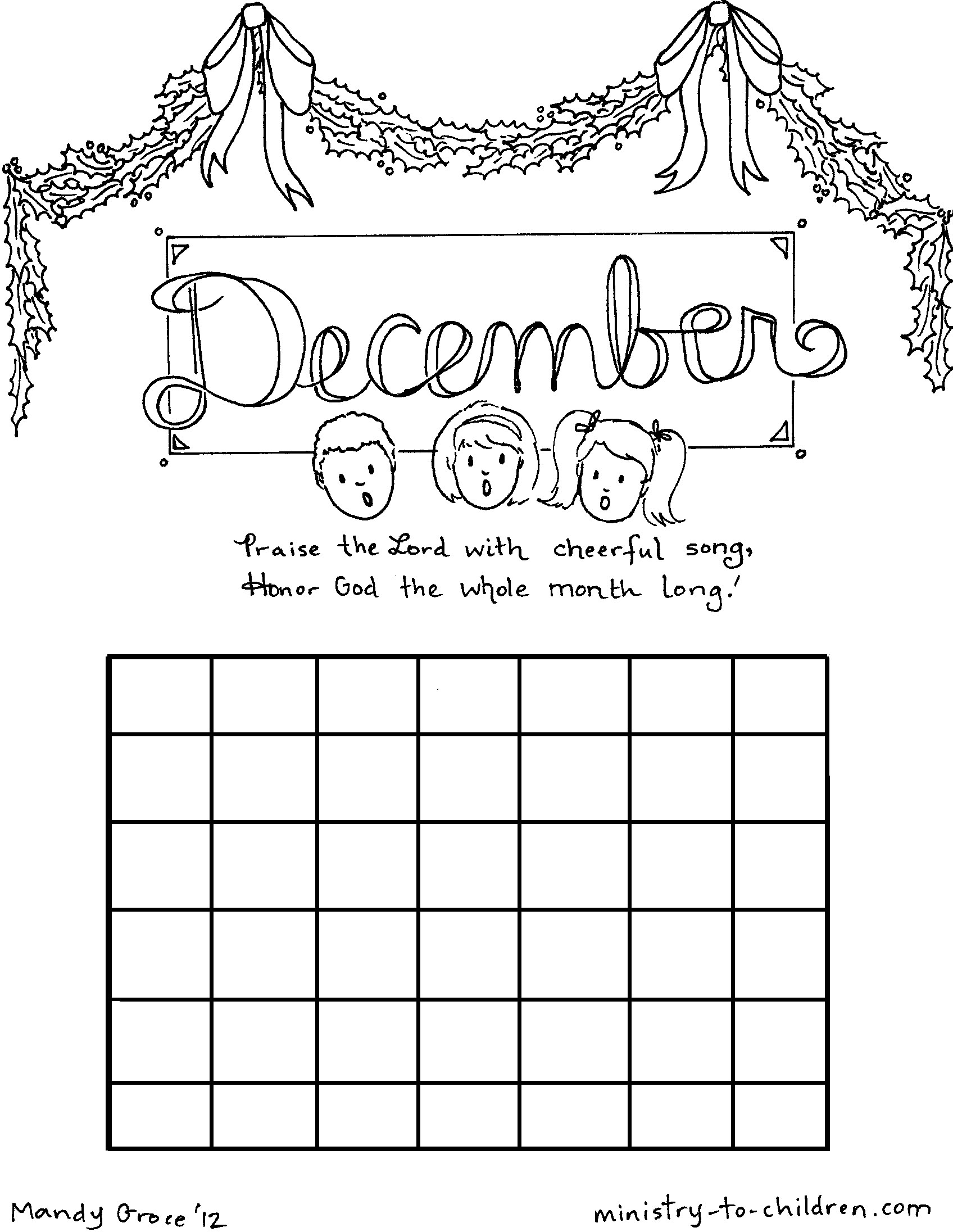 Monthly Calendar Coloring Pages Download And Print For Free
