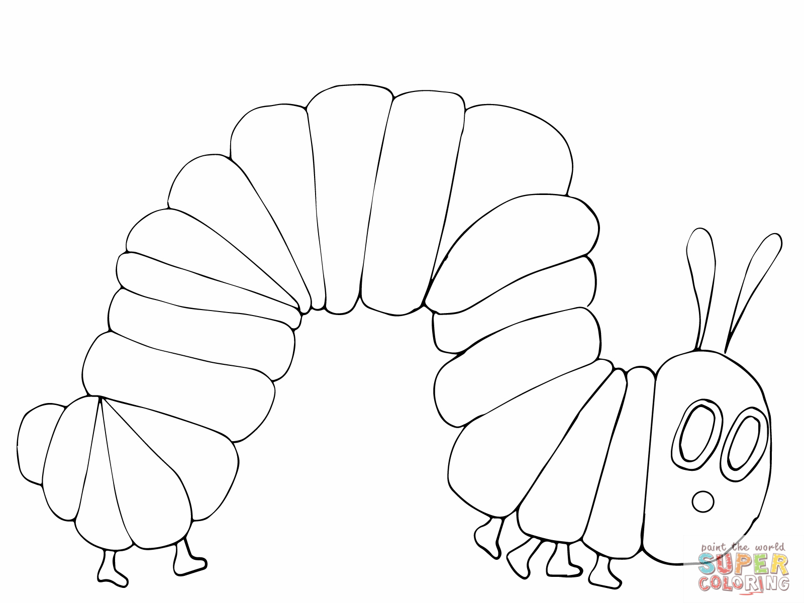Very Hungry Caterpillar Coloring Pages To Download And