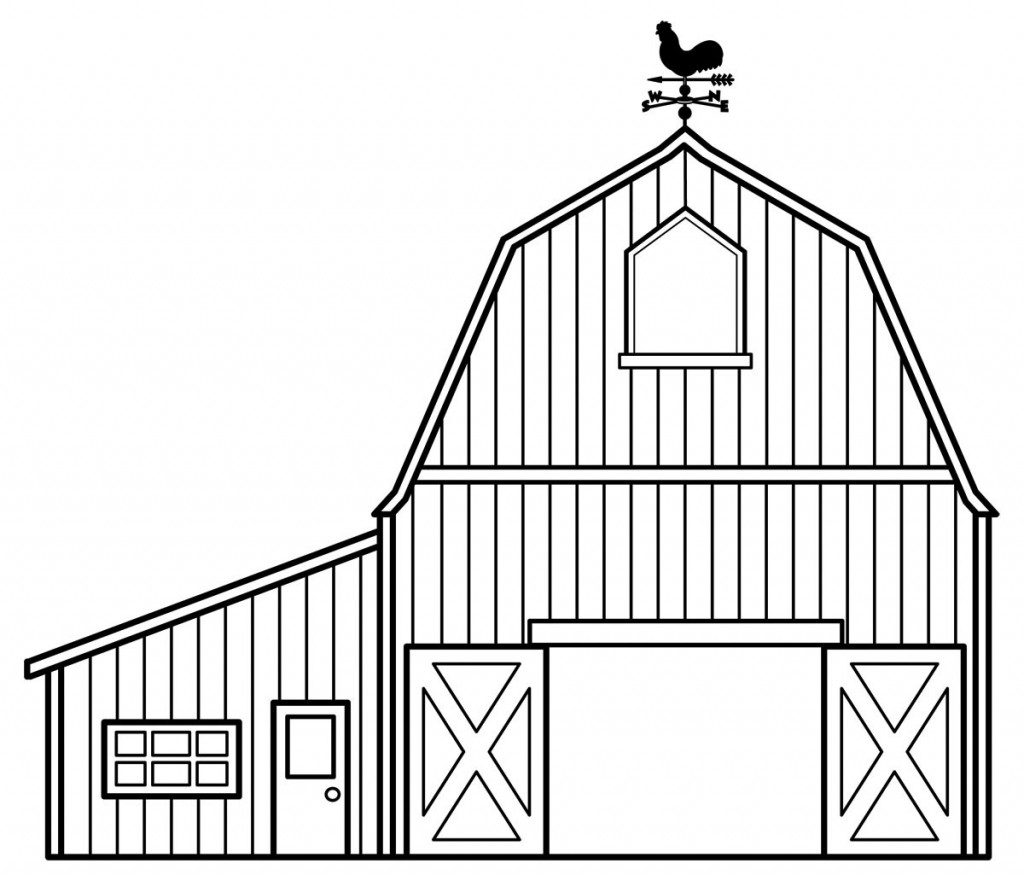 Barn Coloring Pages Download And Print For Free