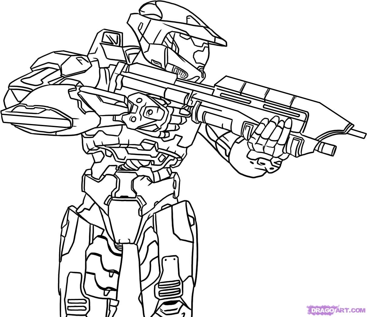 Halo Coloring Pages To Download And Print For Free