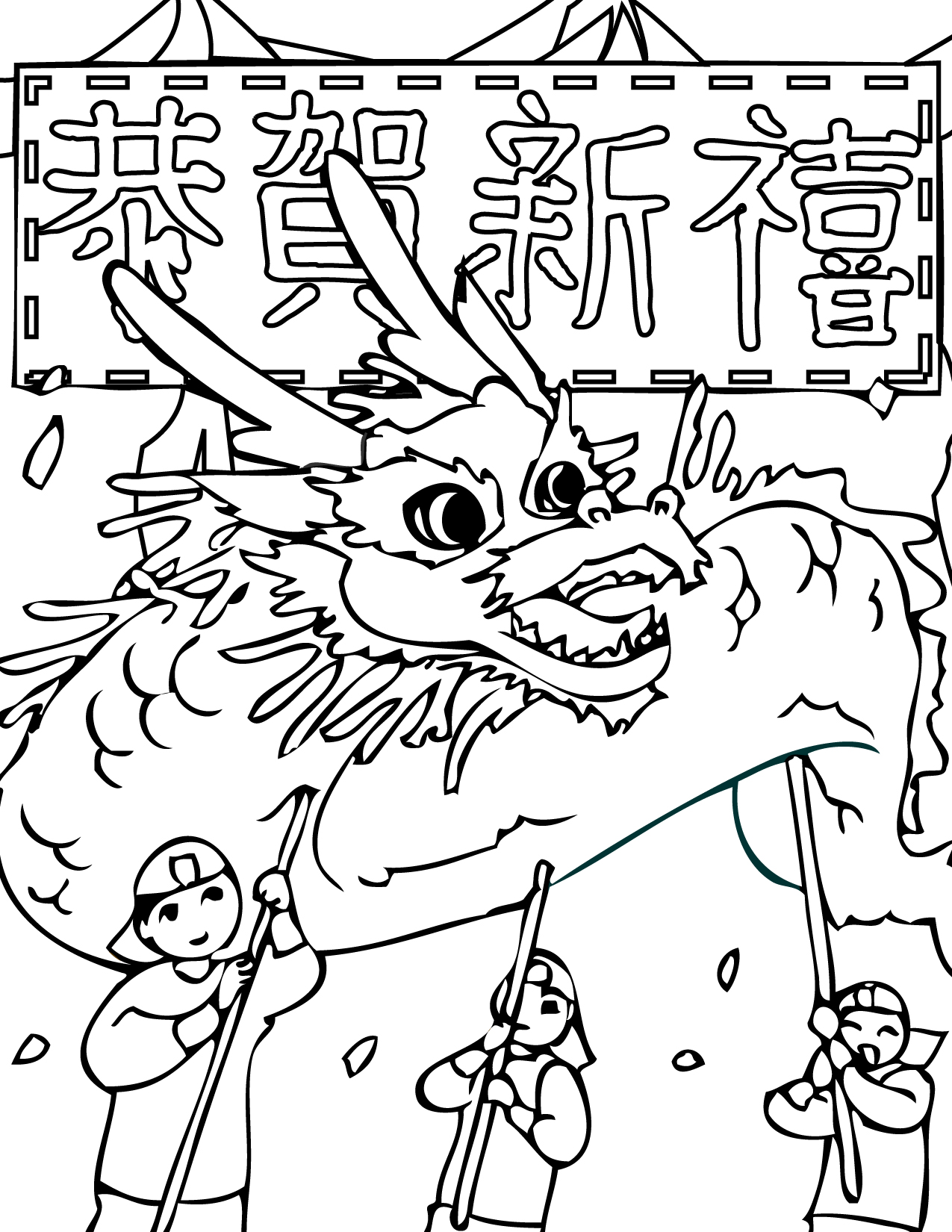 Chinese Coloring Pages To Download And Print For Free