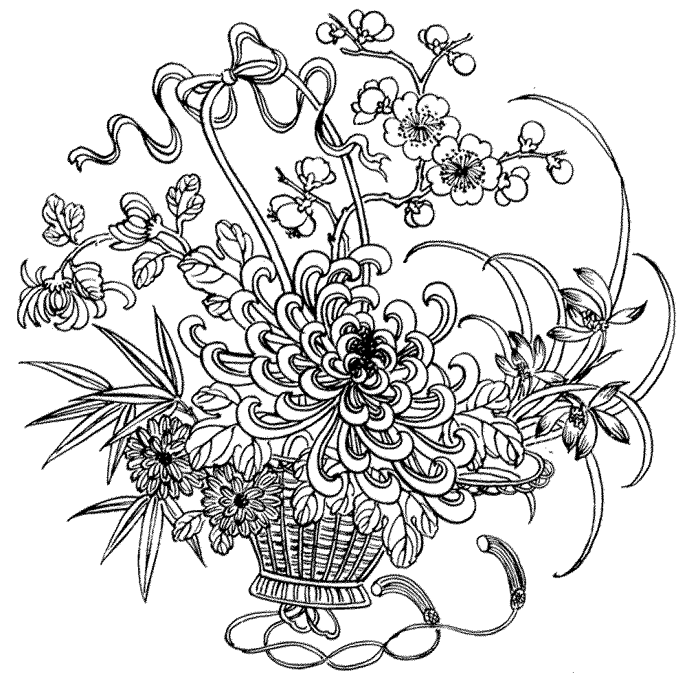 Adult coloring pages flowers to download and print for free | colouring pages for adults flowers