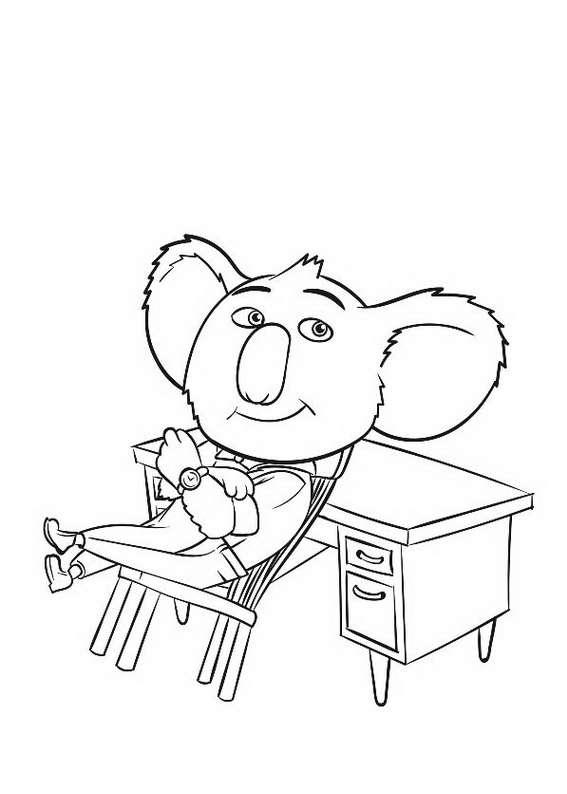 Sing Movie Coloring Pages To Download And Print For Free
