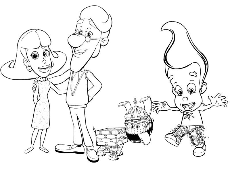 Jimmy Neutron Coloring Pages To Download And Print For Free