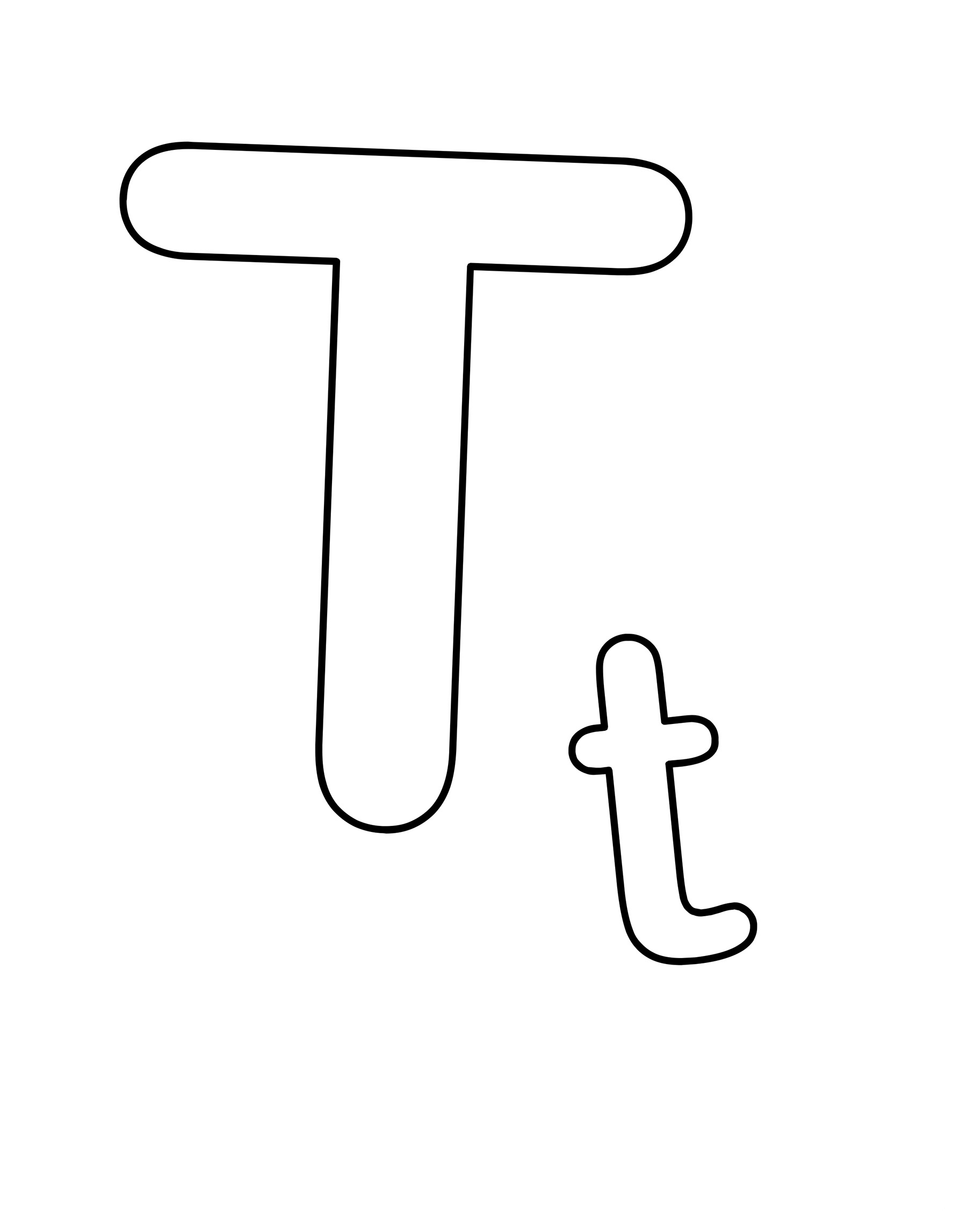 Letter T Coloring Pages To Download And Print For Free