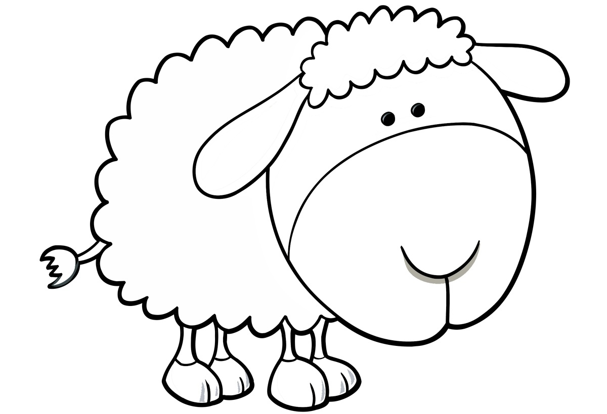 Sheep Coloring Pages To Print Year Of Sheep