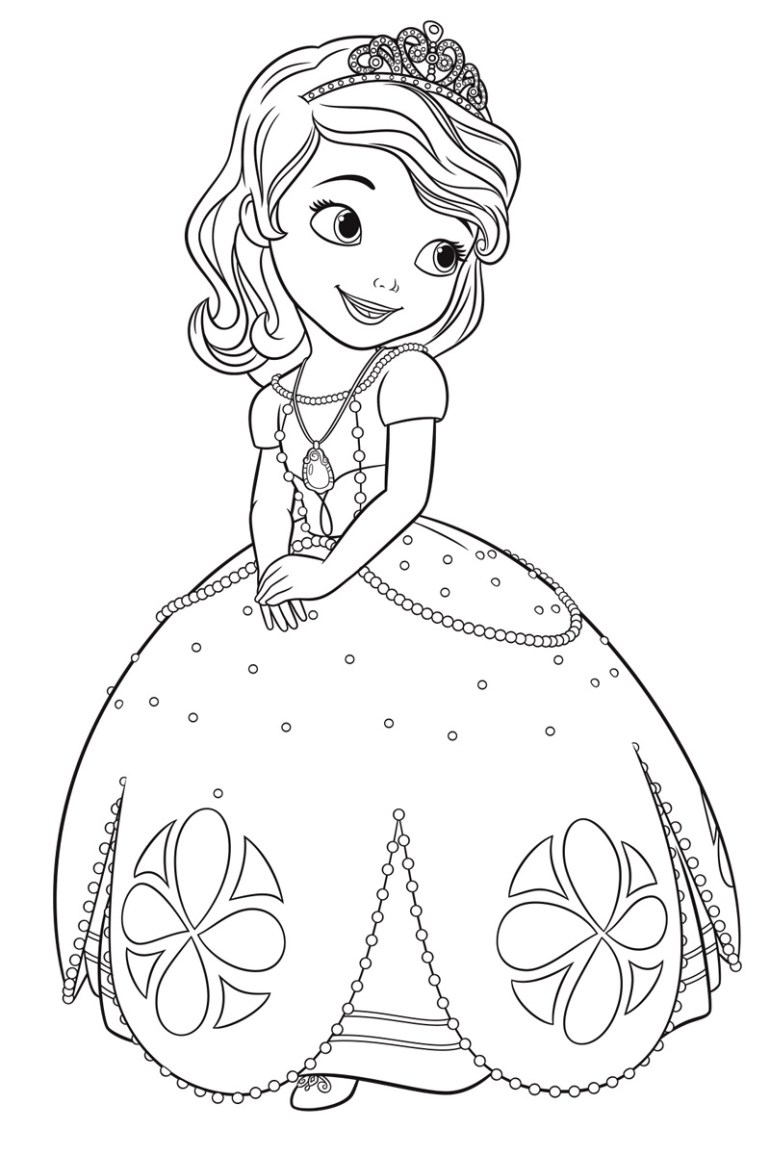 Sofia the First coloring pages for girls to print for free | free printable princess sofia coloring pages