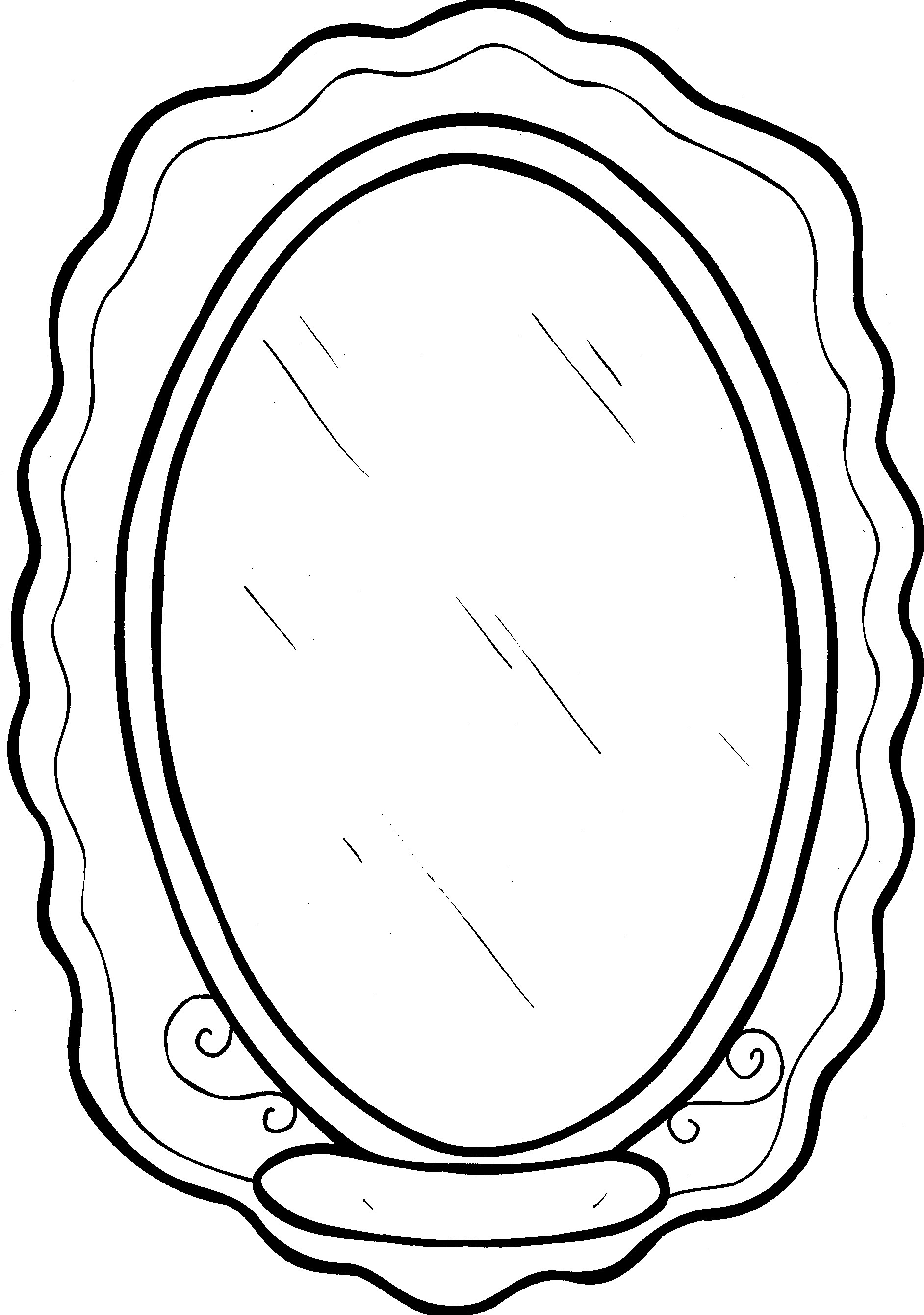 Mirror Coloring Pages To Download And Print For Free