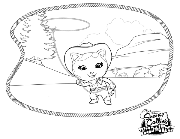 sheriff callie's wild west coloring pages to download and