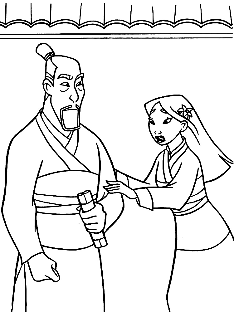Mulan coloring pages download and print free, minnie mouse coloring pages