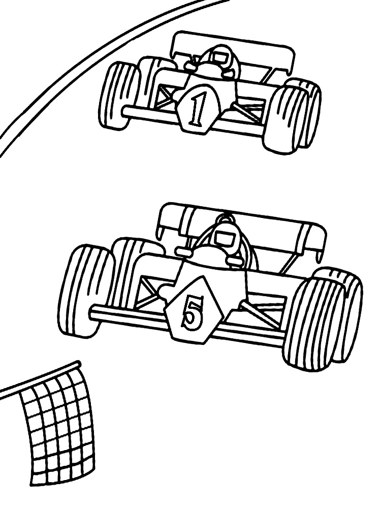 Race Coloring Pages To Download And Print For Free