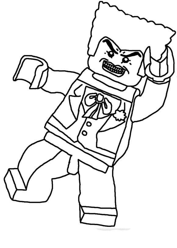 Gambar Mewarnai Lego Batman Download Gambar Online