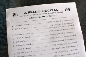 Piano recital program template 1 color in my piano todays pronofoot35fo Image collections