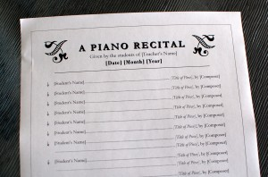 Just added piano recital program template 2 color in my piano todays free printable is a another template of a piano studio recital program for listing students names pronofoot35fo Image collections