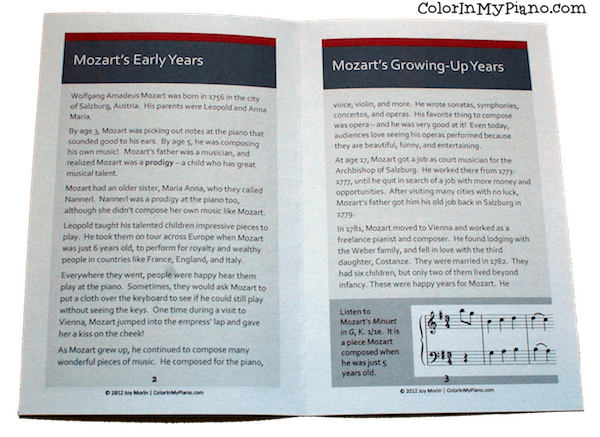Mozart booklet