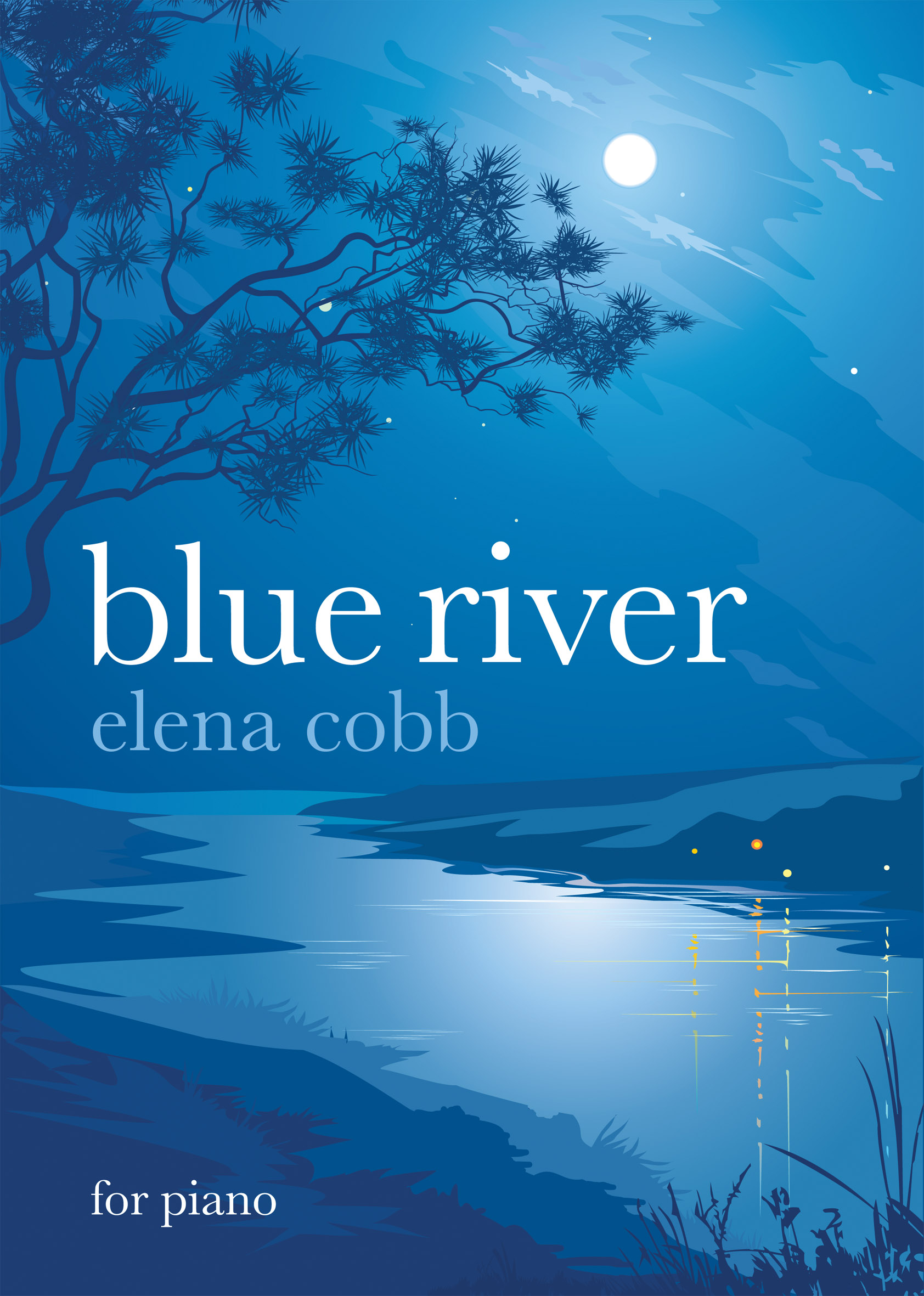 Book Cover White River : Review sheet music by elena cobb color in my piano