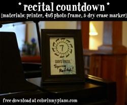 recital countdown background