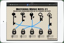 IPad mini matching music worksheets