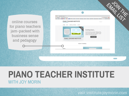 PIANO TEACHER INSTITUTE - join email list