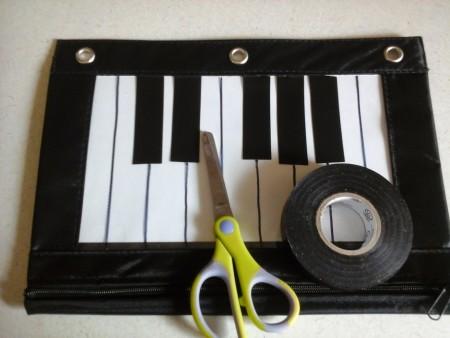 piano pencil bag