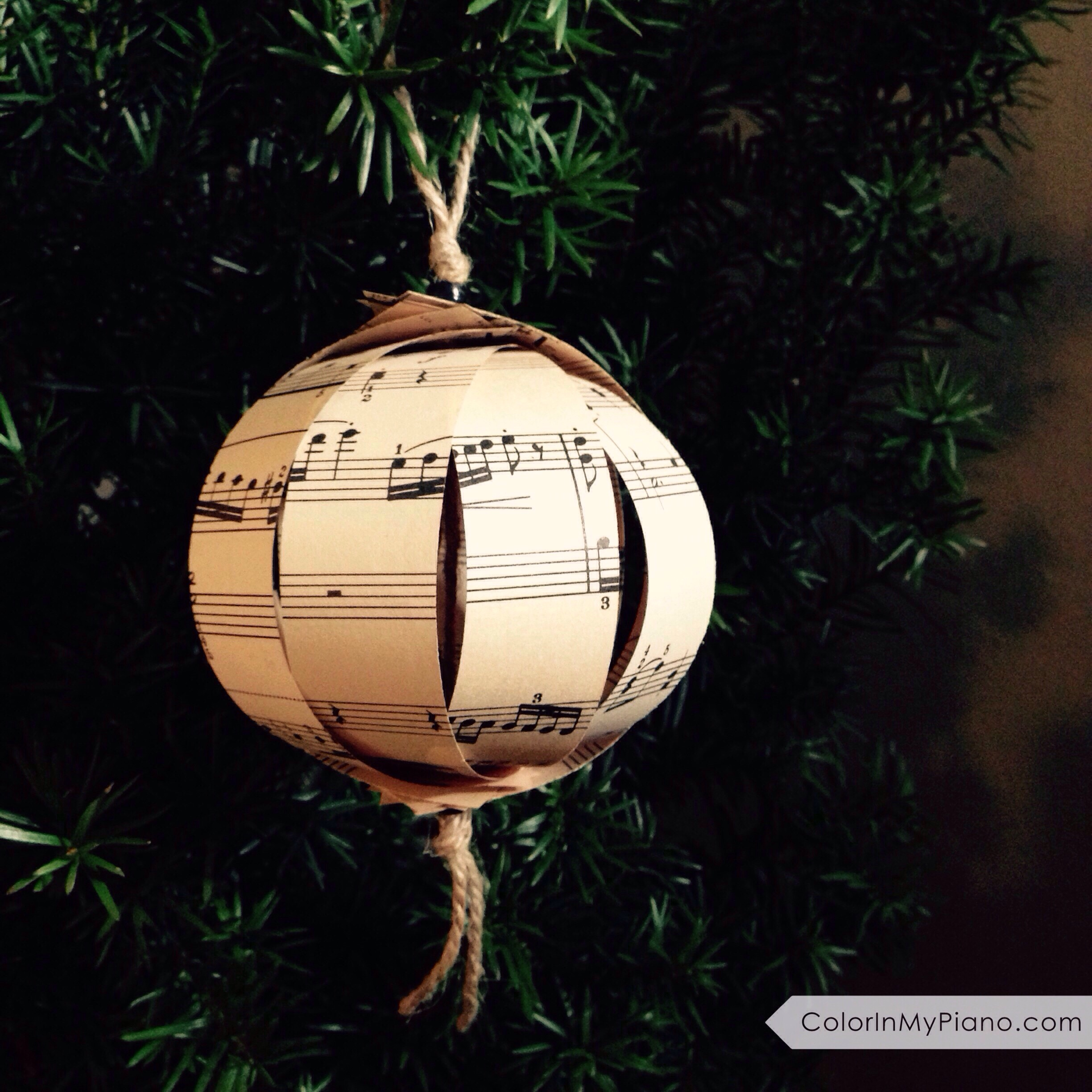 Sheet Music Christmas Ornament - Gift Idea for Piano Students ...