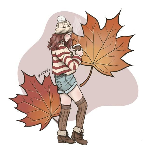 illustration : modele automne collection coloristelle chez monsweat.fr