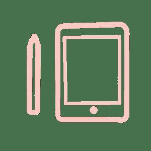 Illustration : A propos / pictogramme tablette numérique