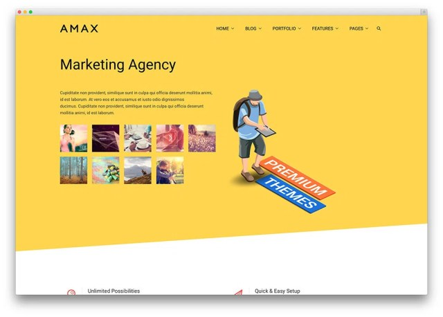 amax marketing firm wp theme