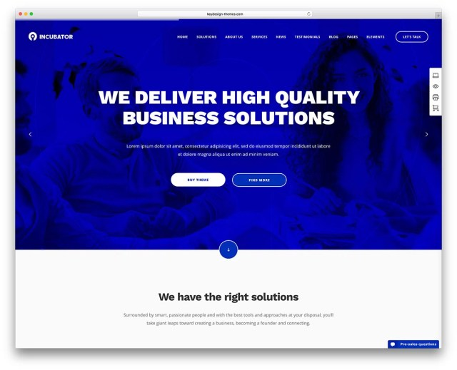 incubator-corporate-landiong-page-website-template