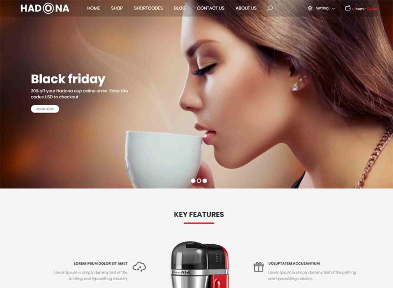Hadona - Tema de WordPress para un solo producto