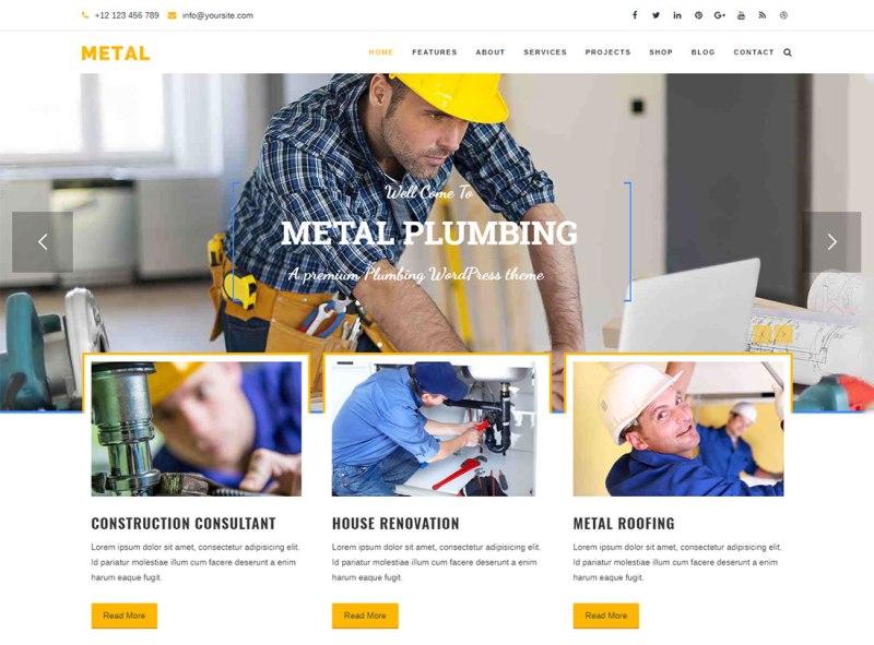 Metal Plumber WordPress Theme