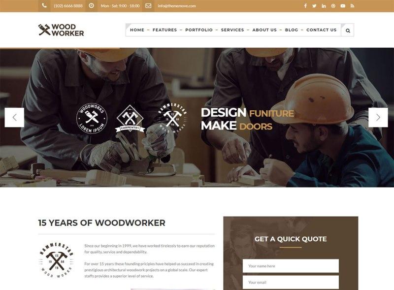 Carpenter Woodworker Plumber WordPress Theme