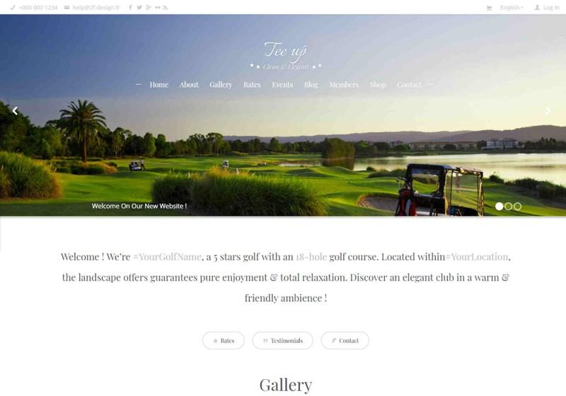 Tee Up WordPress Golf Theme