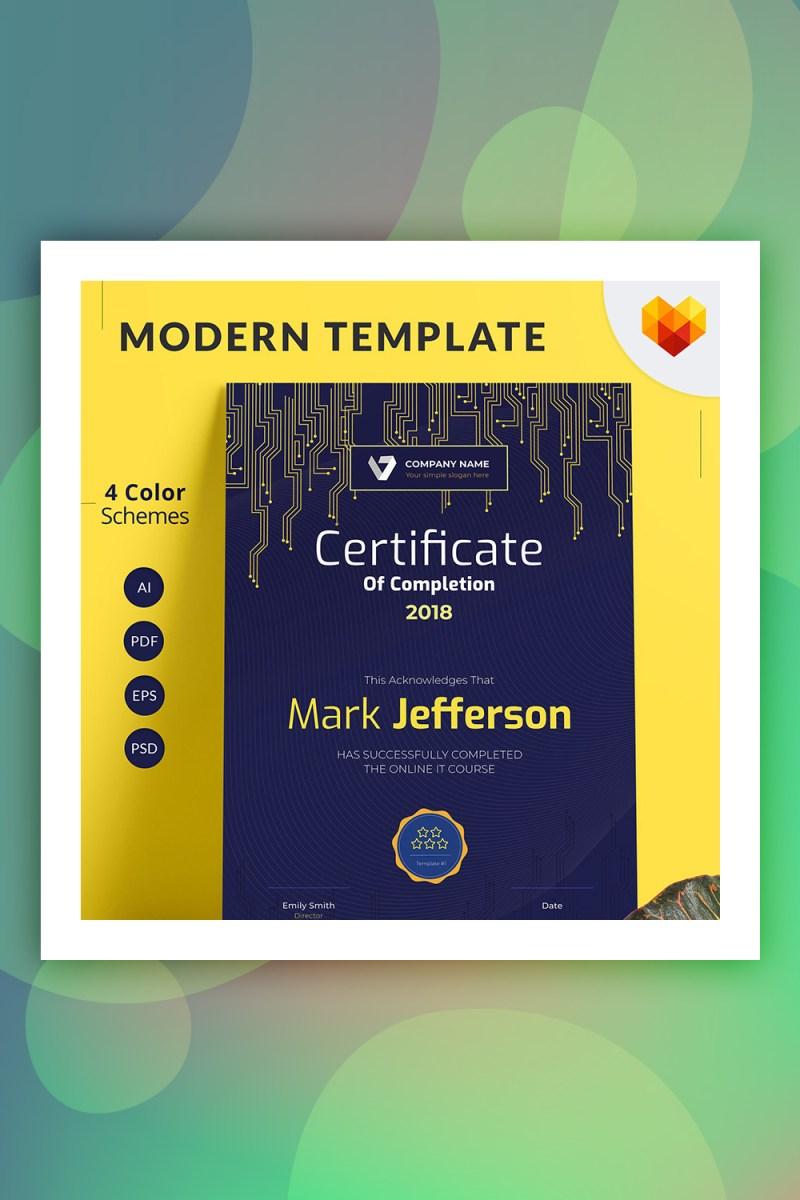 Certificado de finalización de plantilla de certificado