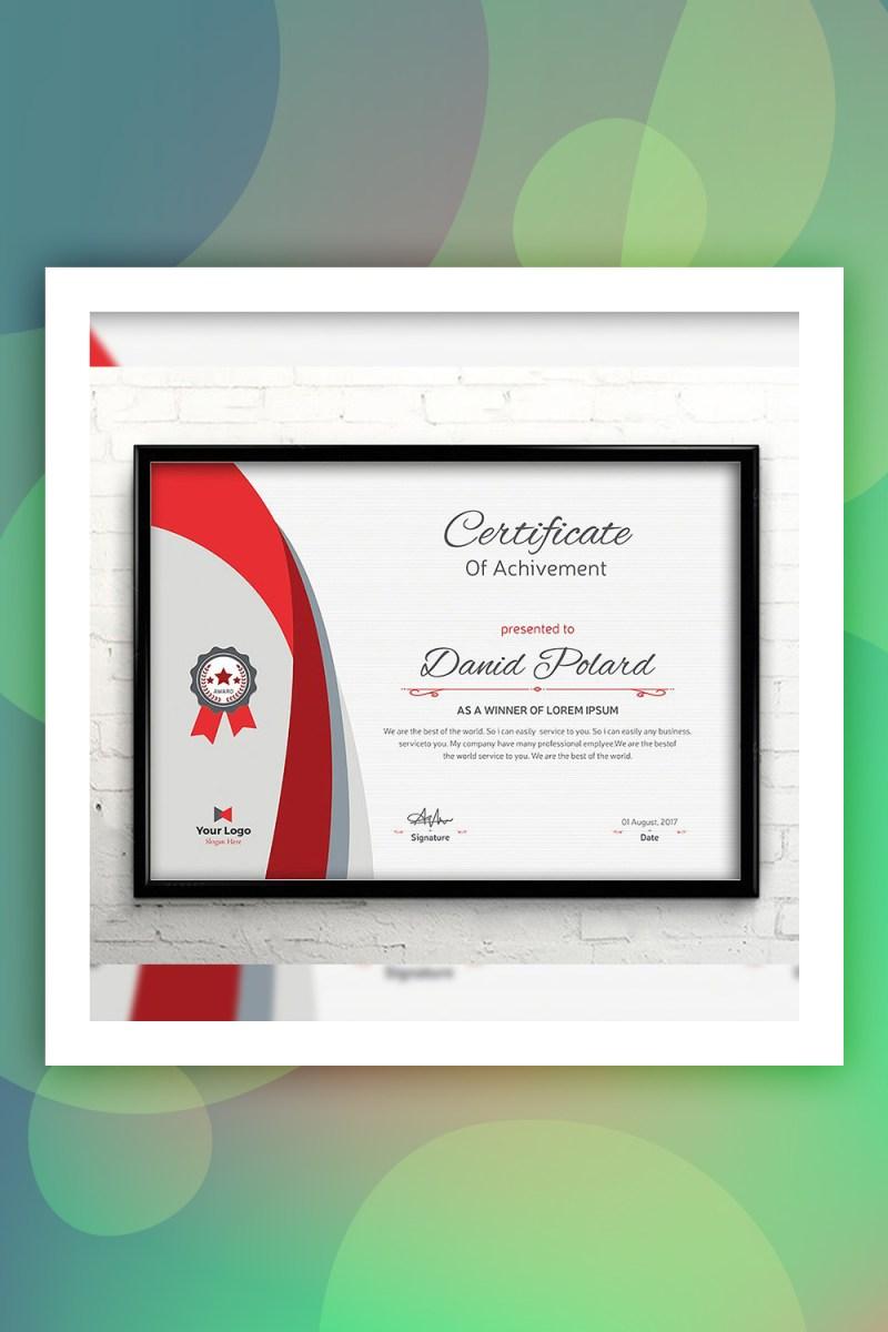 Plantilla de certificado elegante vintage
