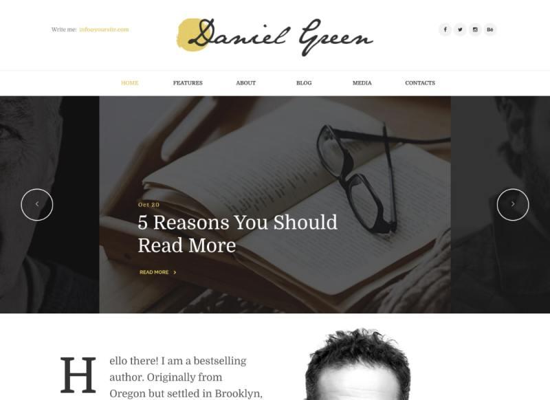 Blog para escritores y periodistas con el tema de WordPress para librería