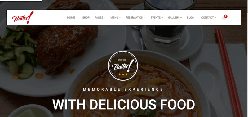 Mantequilla - Tema profesional de WordPress para restaurantes, panaderías, cafés, bodegas y pizzas
