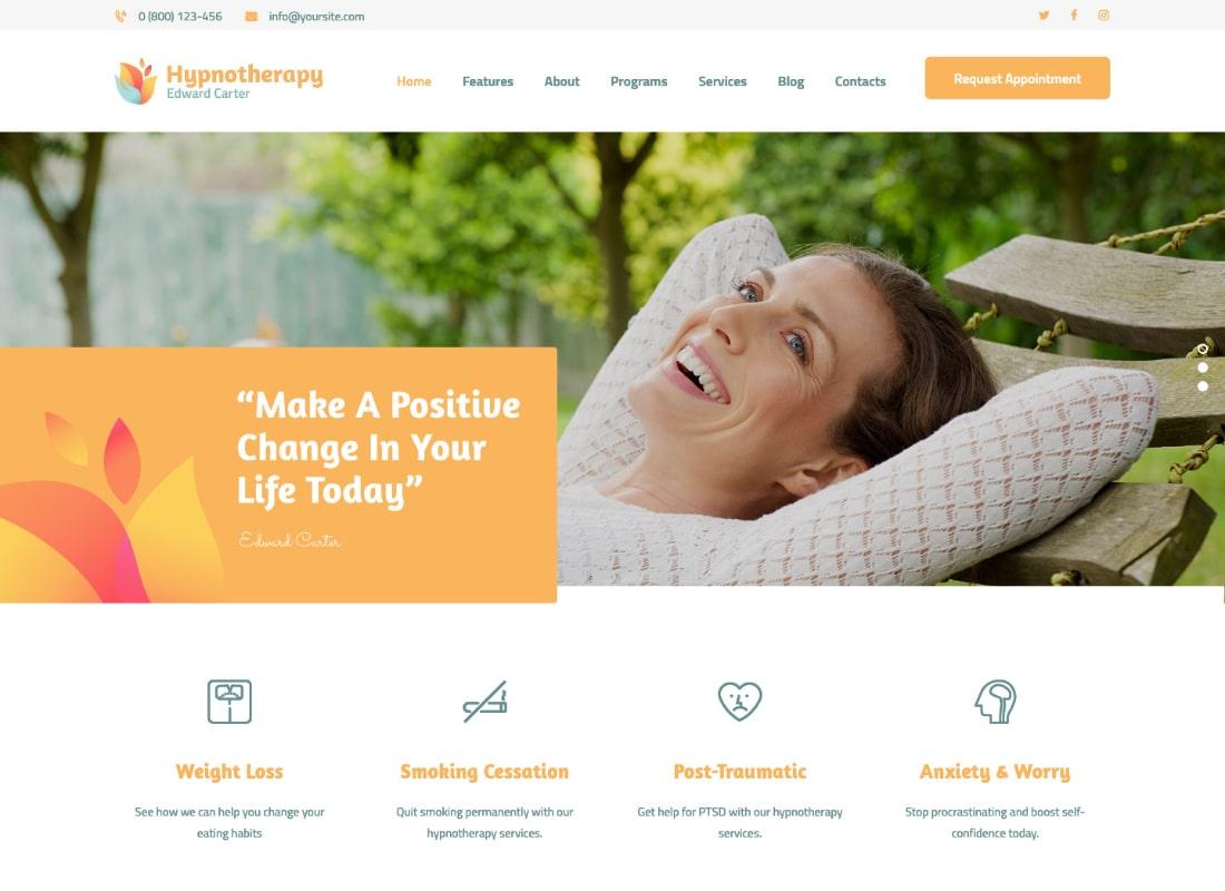 Hipnoterapia | Tema de WordPress Hipnoterapia y Psicología