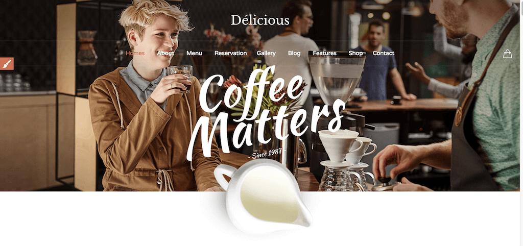 Restaurant Cafe - Tema para Restaurantes y Cafeterías