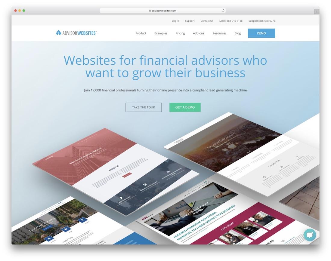 constructor de sitios web de seguros