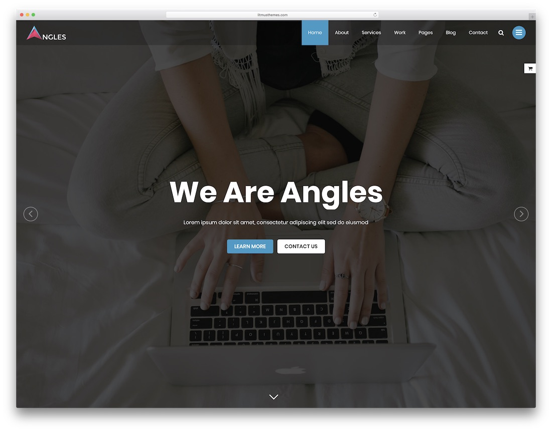 angles consulting website template