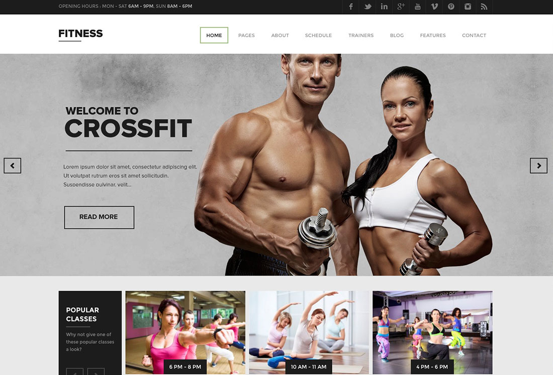 Website template that comes with the responsive wordpress theme. 34 Best WordPress Fitness Themes For Gym 2021 Colorlib