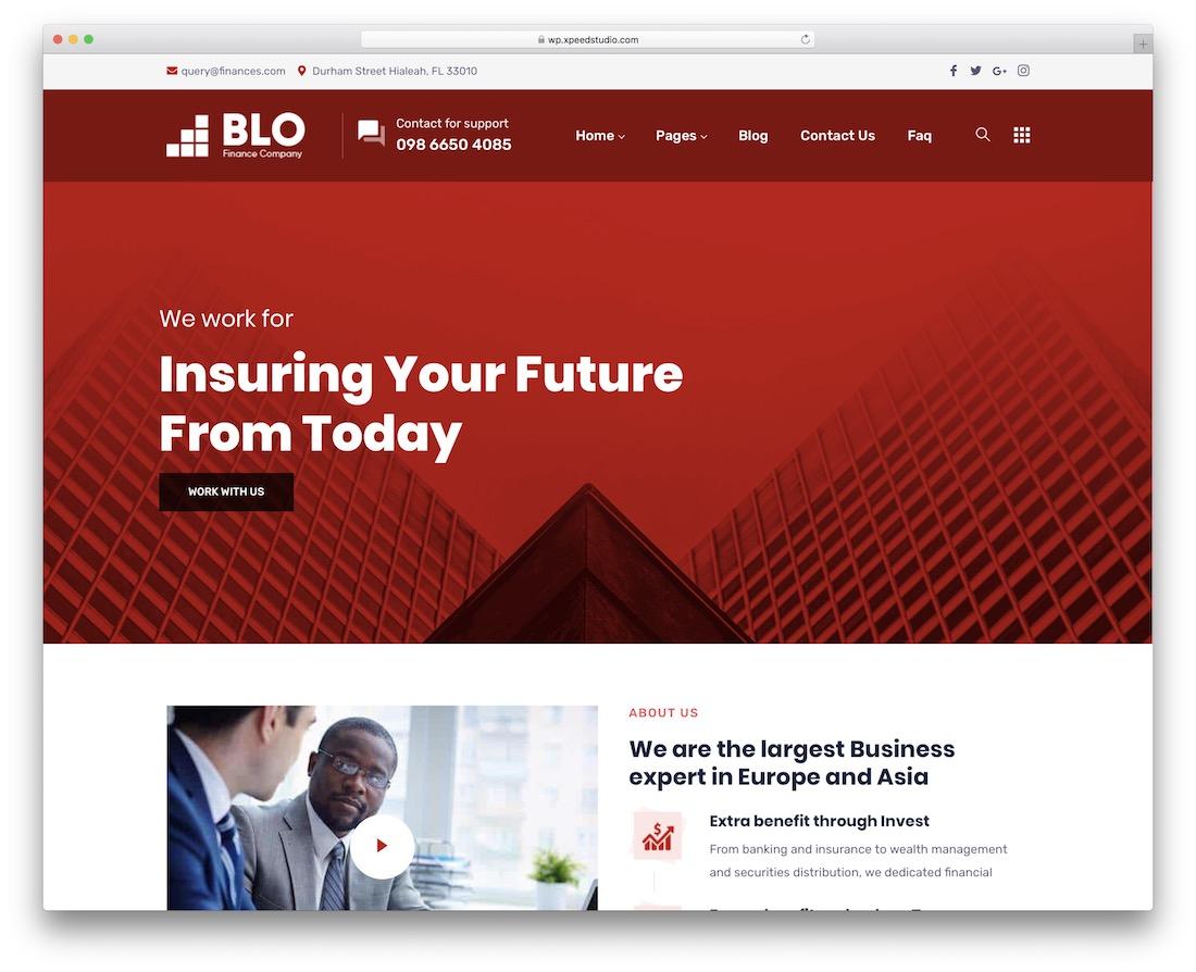 plantilla de sitio web blo bootstrap