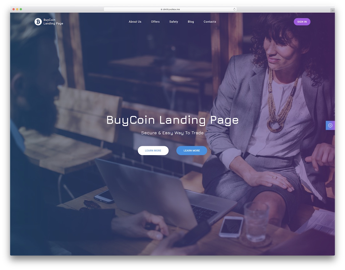 buycoin consulting website template