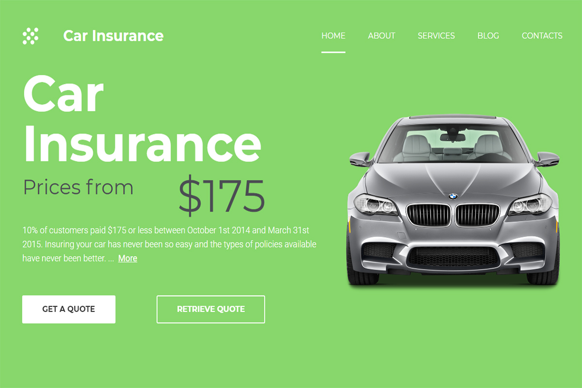 Proof auto insurance letter template examples 10 Best Insurance Website Templates 2021 Colorlib
