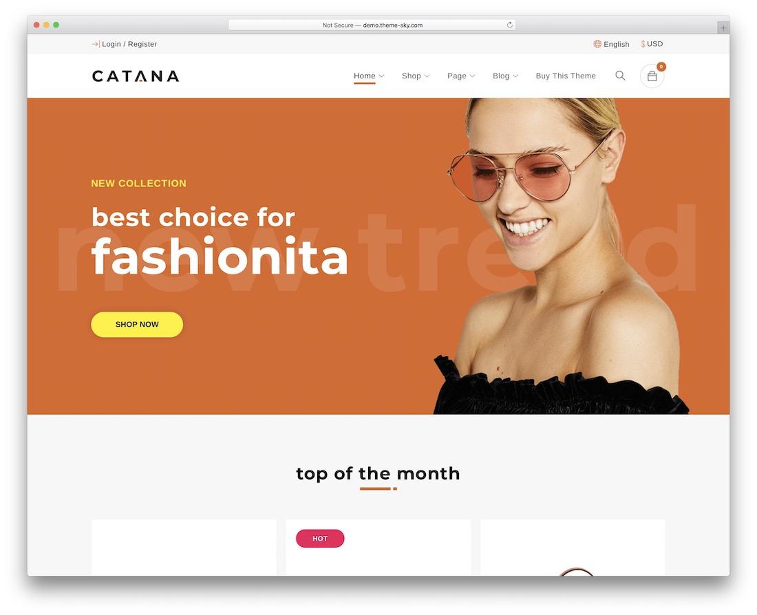 catana fashion website template