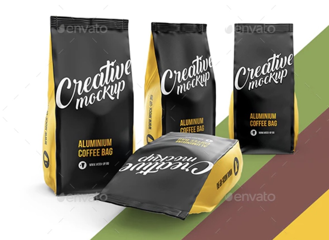 Gaming cassette and a packet with 90s objects. 24 Best Coffee Bag Mockup Templates 2020 Colorlib
