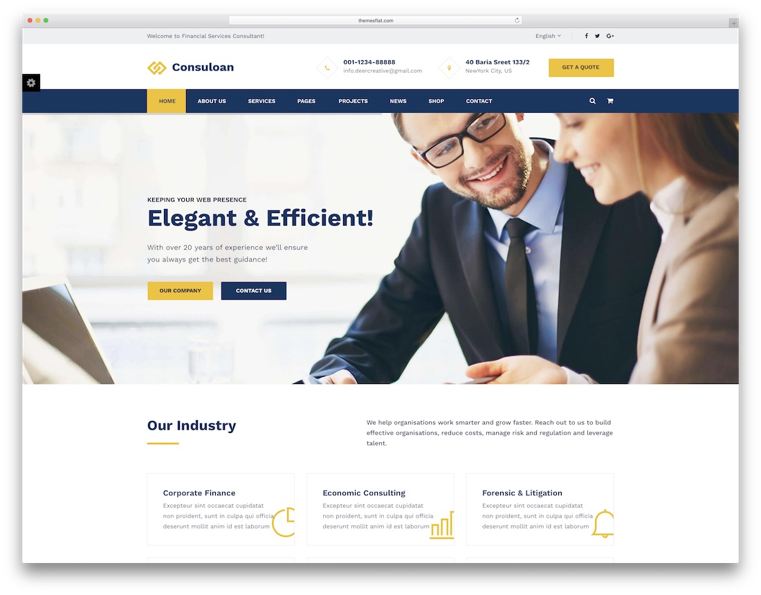consuloan consulting website template